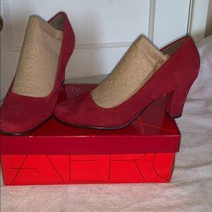 Red suede heels!